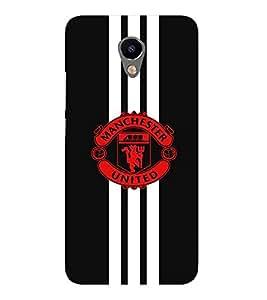 For Meizu M2 :: Meizu M 2 red icon ( red icon, nice icon, tiger, trishul, football, black background ) Printed Designer Back Case Cover By FashionCops