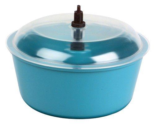 Raytech 23-005 Polyethylene Bowl with Lid, 0.05 cubic feet Capacity, 8 Diameter, For TV-5 Standard Vibratory Tumbler by Raytech