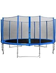 SixBros. Sixjump 4,60 M Trampoline de jardin bleu Certifié par Intertek / GS - Filet de sécurité - CST460/L1787