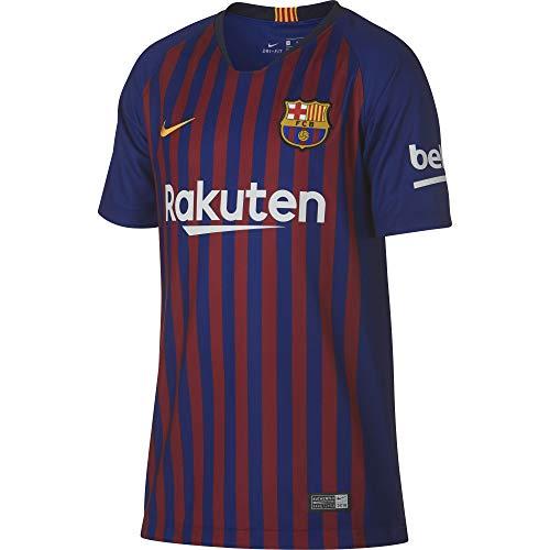 Nike Kinder FC Barcelona Stadium Home T-Shirt, Deep Royal Blue/University Gold, M