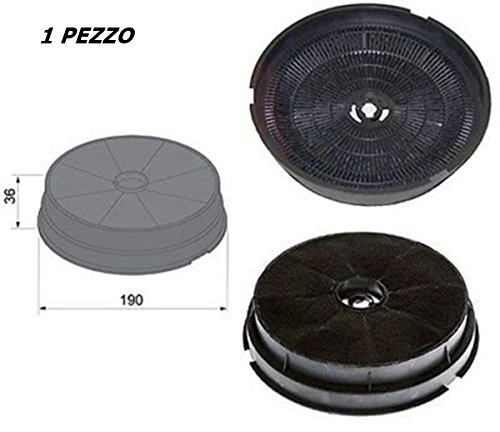 Filter Dunstabzugshaube Tecnowind Electrolux Zanussi Candy Whirlpool SMEG BEKO Merloni Ariston Ø 190H 36mm F 48