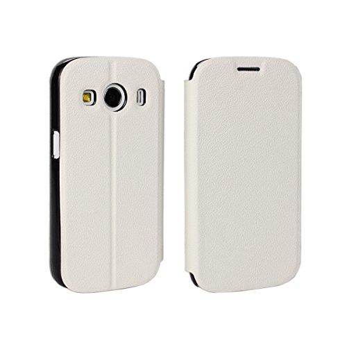 Samsung Galaxy Ace Style LTE G357 Hülle, CaseFirst Leder Handyhülle PU Geldbörse Anti-kratzer Lederhülle Schutzhülle Schutz Stoßfest Bookstyle Wallet Case mit Karten fächer (Weiß)