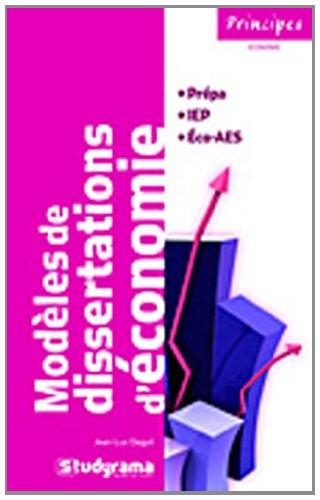 Modèles de disertations d'économie
