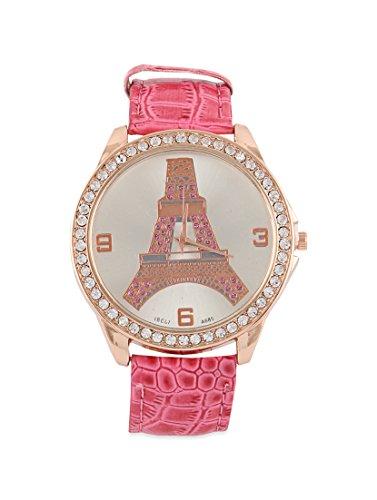 Young & Forever Damen-Armbanduhr Eiffelturm Armband Gold ()