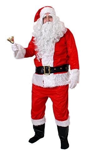 WEINACHTSMANN KOSTÜM 10 - TEILIG IN DER GRÖSSE (Kostüme Noel)