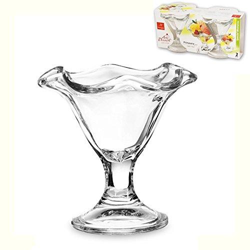 Confezione da 2 coppe per gelato dessert ciotole coppette della bormioli primavera made in italy 24 cl