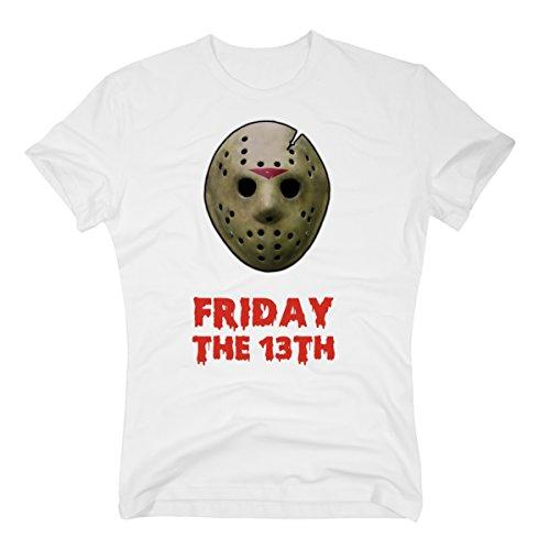 13th Horror Halloween weiss, XXXL (Freddy Krueger Jungen Kostüm)