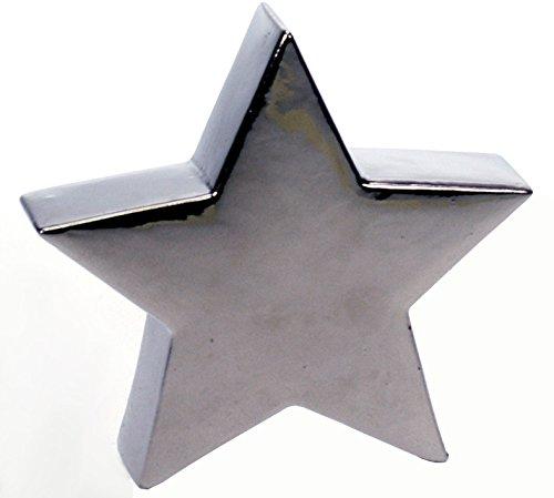 Revimport 19/3348Stella decorativa argento ceramica 19x 4,5x 18cm