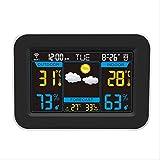 XSPDX Sveglia Elettronica Intelligent Color Screen Weather Forecast Clock Orologio Multifunzione Wi-Fi con Calendario Interno ed Esterno di Temperatura e umidità