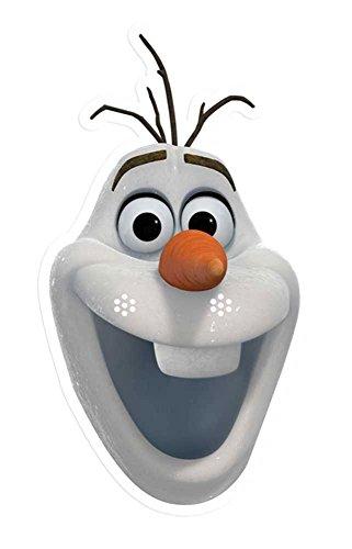 aske, aus hochwertigem Glanzkarton mit Augenlöchern, Gummiband - Größe ca. 30x20 cm (Frozen Olaf Kostüm)