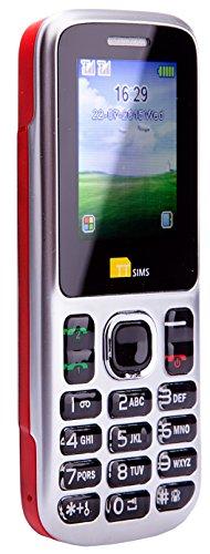 TTsims - Dual Sim TT130 Mobile Phone - Camera - Bluetooth - Cheapest Twin 2 Sim Phone - Red