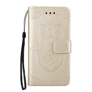 Handy-Hüllen & Hüllen, Case für iPhone case Cover die Palm Muster pu ledertaschen (Farbe : Golden, Kompatible Modellen : iPhone 7 Plus)