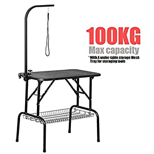 tinkertonk-Adjustable-Foldable-Dog-Grooming-Table-In-Black-With-Arm-Noose-Mesh-Tray-Maximum-Capacity-Up-to-100KG32