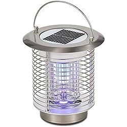 MeetUs Lampe UV de Tueur de Puissance Solaire sans Fil, Silver
