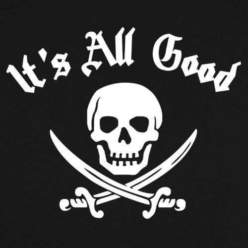 Refugeek Tees - Herren Its All Good Skull And Swords T Shirt Schwarz