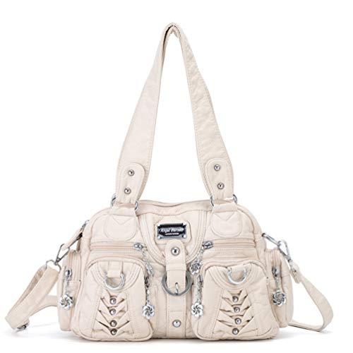 Handtasche Summer Trend Fashion Europa und Amerika Damen Schultertasche Kleine Handtasche Beige -