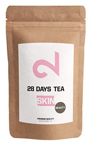 Dual skin 28 days beauty tea| 100% naturale | 60g di tè sfuso a foglia | aroma di pesca | senza additivi | senza zucchero | vitamina arricchita | vegan | certificato in laboratorio | made in eu