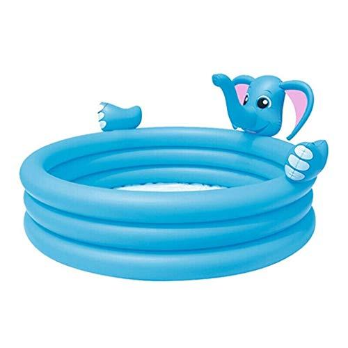 W&NR Aufblasbare Badewanne der Kinder, die Starkes rundes Swimmingpool-Eltern-Kind-Karikatur-Spiel-Pool-Elefant-aufblasbarer Brunnen-kriechendes Pool faltet (Size : 152 * 79cm)