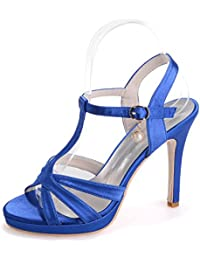 Elegant High shoes5915-18 Sandali da Donna da Donna/Buckle Nights Office & Career Fine Heels, Purple, 42