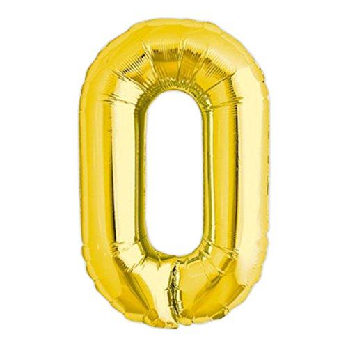 Globo gigante de helio con adhesivos letra O