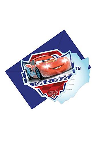 Generique - 6 Cartes dinvitation avec enveloppes Cars Ice Racers