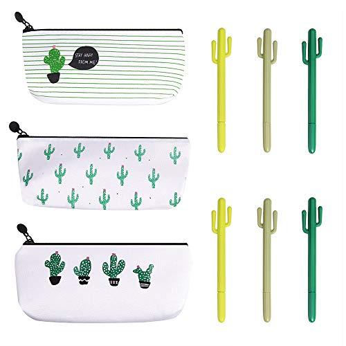 El paquete contiene:3 Caja de Lápiz6 Bolígrafo Cactus