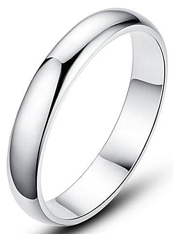 SaySure - S999 Sterling Silver Elegant Bride Wedding Ring BR333 (SIZE : 10.5)