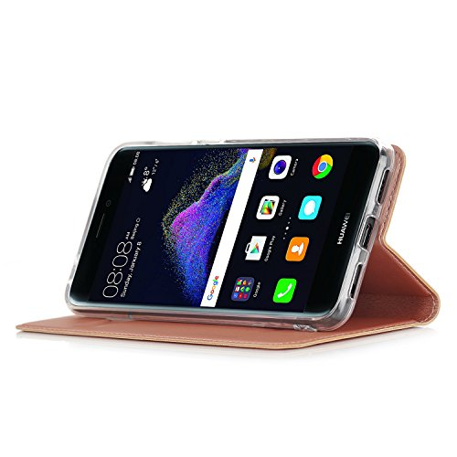 Preisvergleich Produktbild Huawei P8 lite 2017 Hülle,IVSO Hohe Qualität Advanced Shock Absorption Technology Case Folio Tasche Cover für Huawei P8 lite 2017 Smartphone (Rose Gold)