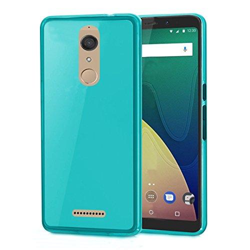 Wiko View 4G 5.7 zoll case TPU blau Tasche Hülle - Zubehör Etui cover silikonhülle Wiko View Dual SIM 2017 / 2018 (blue) - XEPTIO accessoires Dual-view-case