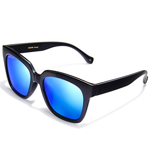 99a3cb0720 VEGOOS Gafas de sol para Hombre Mujer Polarizadas Clásico Retro Lentes de  sol Hawkers 100%