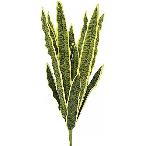Planta Sansevieria artificial en vara de ajuste, amarillo -verde, 50 cm - uso exterior / planta artificial -