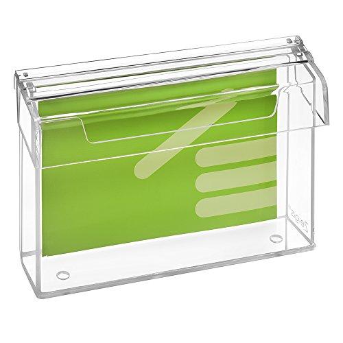 DIN A5Prospetto scatola/Espositore per volantini in formato orizzontale, resistente alle intemperie, per esterno, con coperchio, in materiale acrilico trasparente, vetro-zeigis