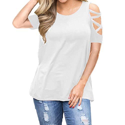 Frauen-große Größe höhlen heraus halbes Hülsen-T-Shirt V-Ansatz Bluse beiläufige Oberseiten aus