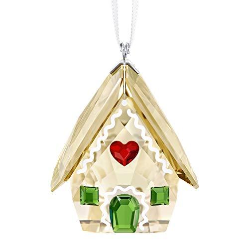 Swarovski Gingerbread House Ornament, Kristall, Mehrfarbig, 3.9 x 3.1 x 2.8 cm