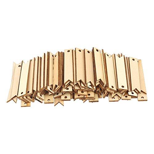 100 stücke Holz Karte, DIY Unfinished Holz Natur Holz Tags Handwerk für Wand Hochzeit Party Raum - Holz Handwerk Unfinished Box