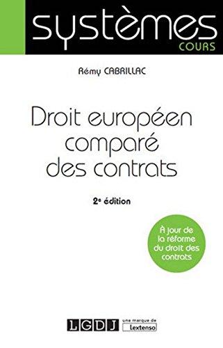 Droit europen compar des contrats, 2me Ed.