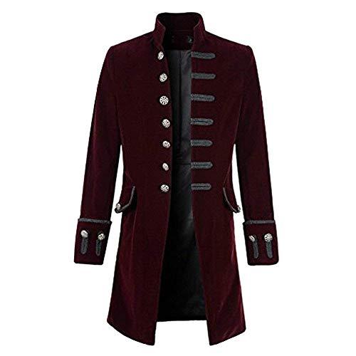 mode HX battercake Veste gothique gothique Steampunk cou et veste long  manteau confortable col rond hommes. Amazon.es 6ec1ea82e2f