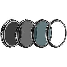 Neewer® für DJI OSMO / Inspire 1, Multi-coated 4 Stücke Fliter Set Beinhältet: Ultra Violet Fliter(UV) + Kreis-Polarisator Fliter(CPL) + Neutrale Filter(ND16) + ND Einstellbare Filter ND2- ND400