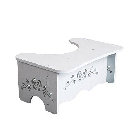 Beyonda 7-Zoll-WC-Hocker, weißes Holz Badezimmer-Schritt, bequeme Squat-Hilfe für Kinder, Kleinkinder, - Für Schritt-hocker Kleinkinder Sicherheit
