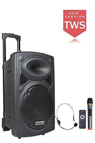 DYNASONIC - Dynapro 12 - Altavoz Inalámbrico Sistema Audio Profesional Megafonia Portatil...