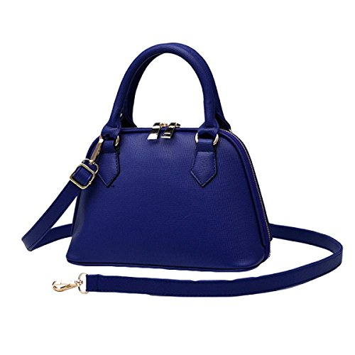 Donne Europa E Gli Stati Uniti Pu Shoulder Messenger Bag Shell Package Blue