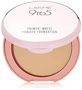 Lakme 9 to 5 Primer with Matte Powder Foundation Compact, Honey Dew, 9g