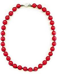 12 mm Perlen Collier Koralle