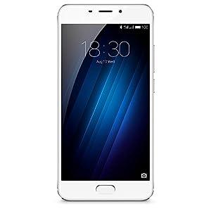 Meizu M3 E Smartphone portable débloqué 4G (Ecran: 5,5 pouces - 32 Go - Double Nano-SIM - Android 6.0) Argent/Blanc
