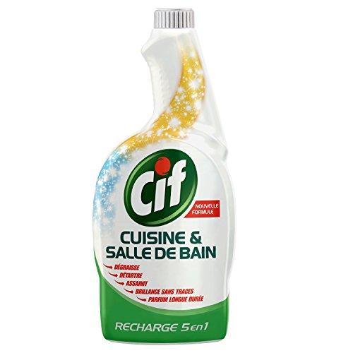 CIF Recharge Pistolet Spray Nettoyant Cuisine/Salle de Bain 750 ml