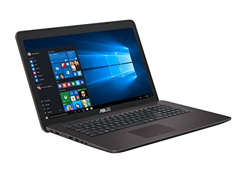 Asus F756UQ-T4147T 43,9 cm (17,3 Zoll mattes FHD) Notebook (Intel foundation i7-7500U, 16GB RAM, 256GB SSD, 1TB HDD, NVIDIA GeForce 940MX, DVD Laufwerk, Win 10 Home) dunkelbraun DE