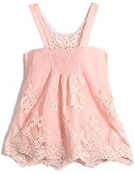 moresave mujeres verano Crochet encaje Floral sin mangas sin espalda playa Casual camiseta Tops
