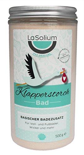 Klapperstorchbad von LaSolium – Basenbad mit hochwertiger roter Mineralerde – basischer Badezusatz für die Säure-Basen-Balance. Dermatologisch getestetes basisches Badesalz.