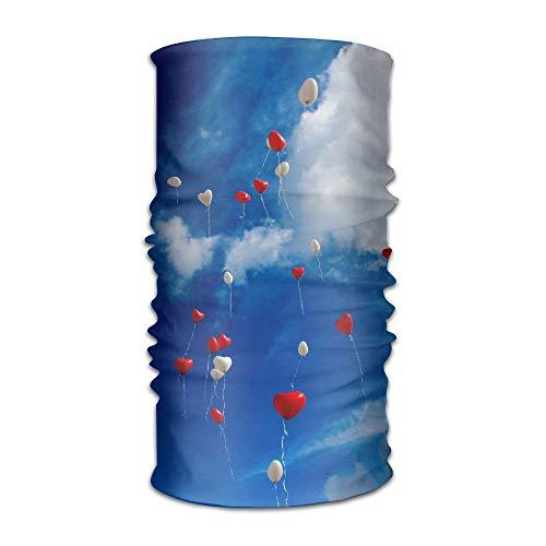 Love Peach Unisex Fashion schnell trocknender Microfaser Kopfschmuck Outdoor Magic Schal Halstuch mit Kapuze, super Weicher Griff