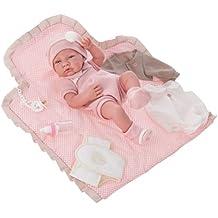 Muñecas Antonio Juan - Muñeca recién nacida con cambiador, color rosa (5095)